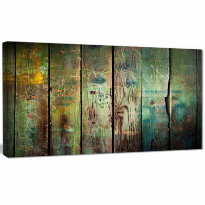 Designart Old Wood Pattern Contemporary Canvas ArtPrint