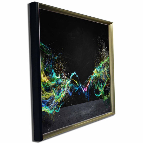 Designart Abstract Motion Banner Contemporary Canvas Art Print