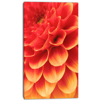 Designart Abstract Orange Flower And Petals FloralCanvas Art Print