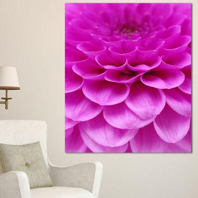 Designart Abstract Purple Flower And Petals FloralCanvas Art Print - 3 Panels