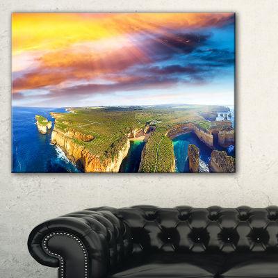 Designart Aerial View Of Great Ocean Road Large Seascape Art Canvas Print