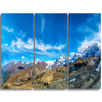 Designart Alps Mountains In Switzerland LandscapeTriptych Canvas Art Print