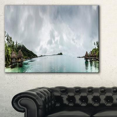 Designart Amazing Bora Bora Panoramic View Large Seascape Art Canvas Print