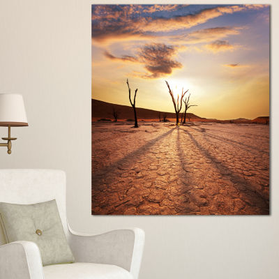 Designart Amazing View Of A Dead Valley OversizedLandscape Canvas Art
