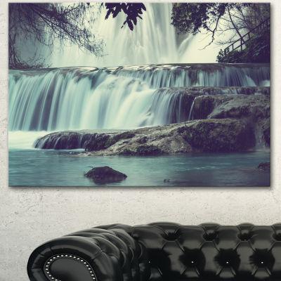 Designart Amazing Waterfall In Mexico Landscape Canvas Art Print