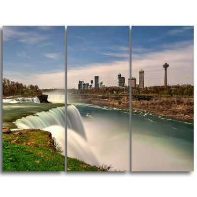 Designart American Falls At Niagara Falls Extra Large Wall Art Landscape