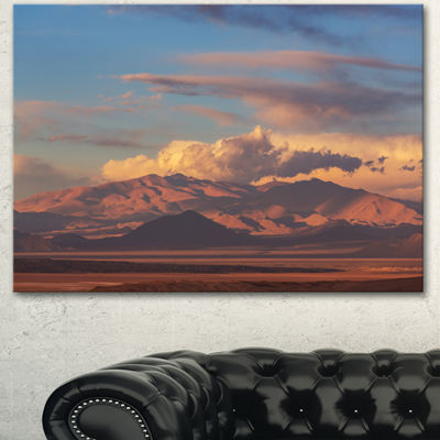 Designart Argentina Mountains With Clouds AfricanLandscape Canvas Art Print