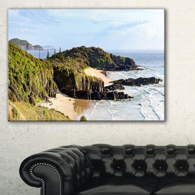 Designart Australian Coastline Crescent Head Landscape Artwork Canvas
