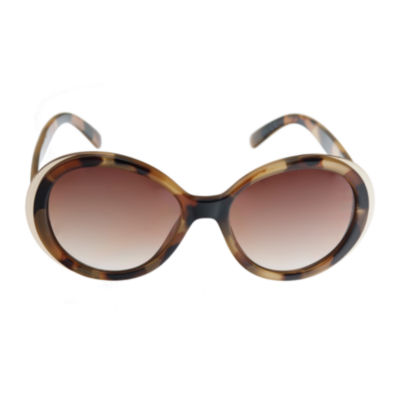 Riviera Full Frame Round UV Protection Sunglasses-Womens