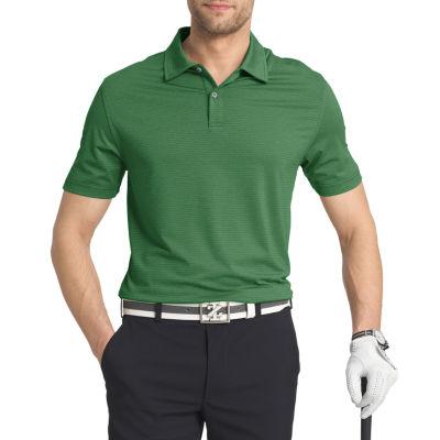 IZOD SS Golf Cutline Stretch Heather Short Sleeve Stripe Knit Polo Shirt - Big and Tall