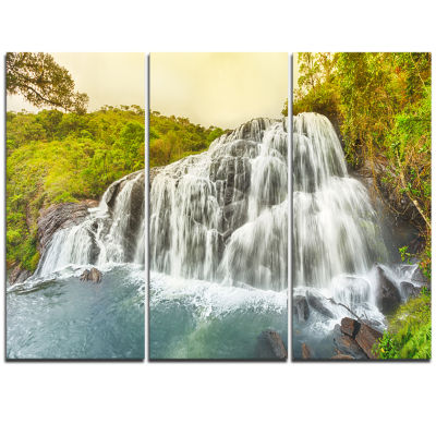Designart Bakers Waterfall Panoramic View Landscape Print Wall Artwork
