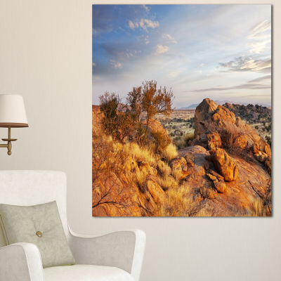 Designart Beautiful African Rocky Landscape Oversized Landscape Canvas Art - 3 Panels