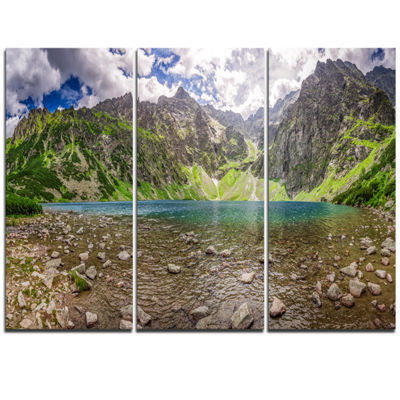 Designart Beautiful Alps Lake In Mountains Landscape Print Wall Artwork