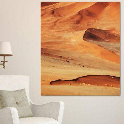 Designart Beautiful Brown Sand Desert Landscape Wall Art On Canvas