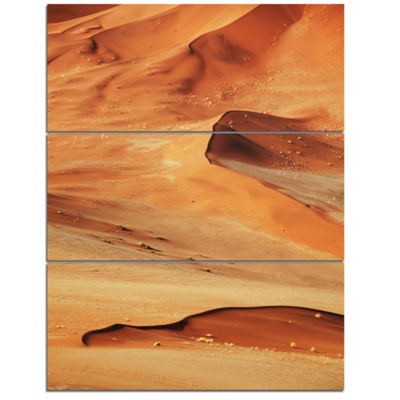 Designart Beautiful Brown Sand Desert Landscape Wall Art On Canvas - 3 Panels