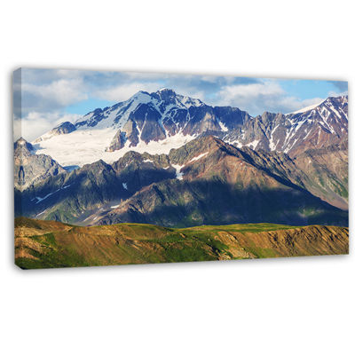 Designart Beautiful Caucasus Mountains Landscape Canvas Art Print