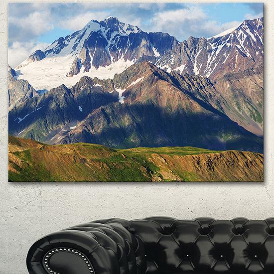 Designart Beautiful Caucasus Mountains Landscape Canvas Art Print