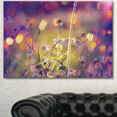 Designart Beautiful Flowers In Meadow Floral Art Canvas Print - 3 Panels