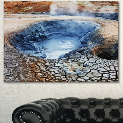 Designart Beautiful Fumarole Field In Iceland Landscape Wall Art On Canvas