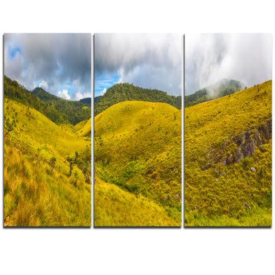 Designart Beautiful Green Horton Plains OversizedLandscape Wall Art Print