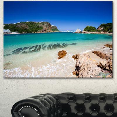 Designart Beautiful Knysna Beach South Africa Large Seashore Canvas Print - 3 Panels