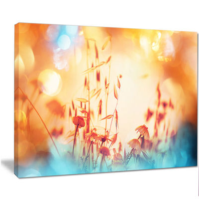 Designart Beautiful Little Summer Flowers View Floral Canvas Art Print
