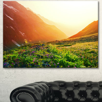 Designart Beautiful Meadow On Sunny Day OversizedLandscape Canvas Art - 3 Panels