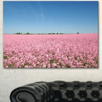Designart Beautiful Meadow Under Blue Sky Floral Canvas Art Print - 3 Panels