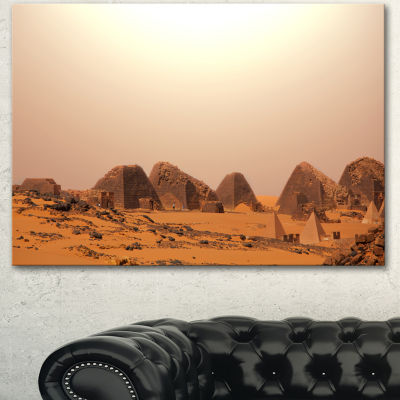 Designart Beautiful Meroe Pyramids In Sudan ExtraLarge Landscape Canvas Art