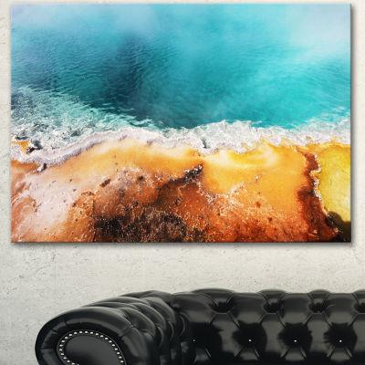 Designart Beautiful Morning Glory Pool OversizedLandscape Canvas Art - 3 Panels