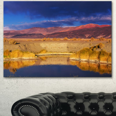 Designart Beautiful Northern Argentina View Oversized African Landscape Canvas Art - 3 Panels