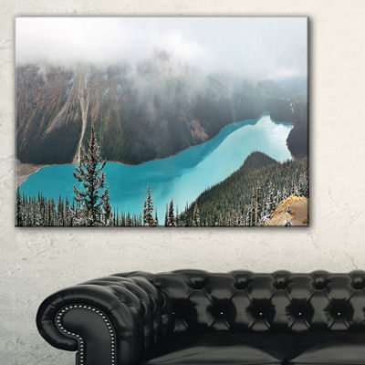 Designart Beautiful Petyo Lake Panorama LandscapeArtwork Canvas