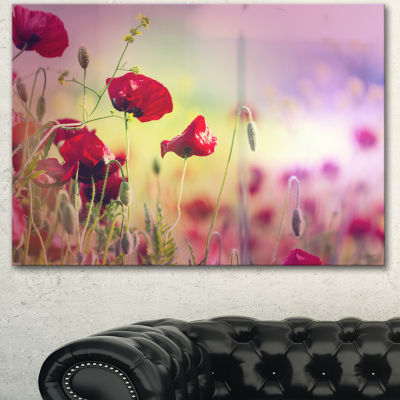 Designart Beautiful Poppy Flower Garden Floral Canvas Art Print