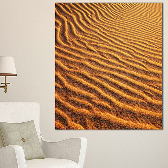 Designart Beautiful Sand Desert Dunes African Landscape Canvas Art Print