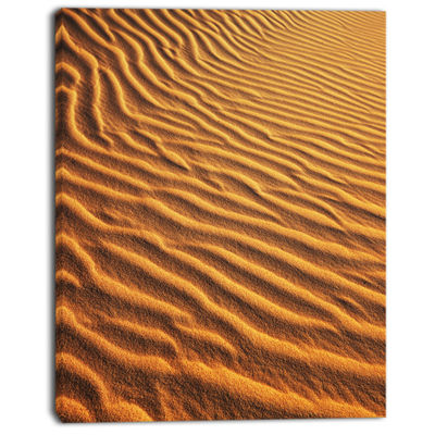 Designart Beautiful Sand Desert Dunes African Landscape Canvas Art Print