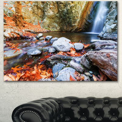 Designart Beautiful Serenity Waterfall In CyprusLandscape Wall Art On Canvas - 3 Panels