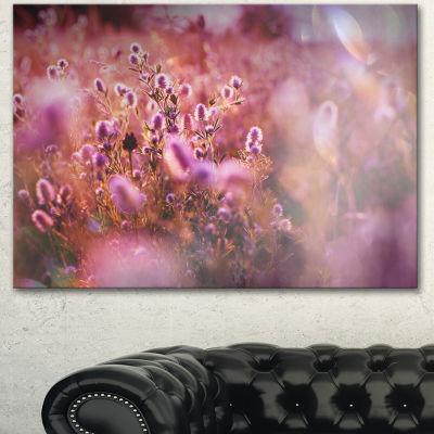Designart Beautiful Summer Little Flowers Floral Canvas Art Print - 3 Panels