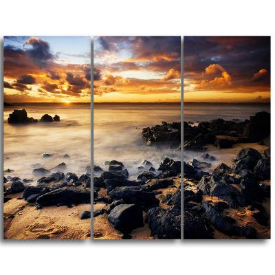 Designart Beautiful Sunset At Philip Island ExtraLarge Wall Art Landscape