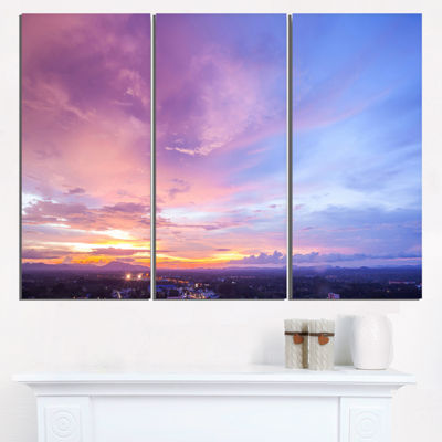 Designart Beautiful Sunset At Trang Thailand ExtraLarge Wall Art Landscape