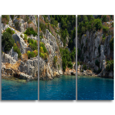 Designart Beautiful Turkey Tropical Beach Landscape Print Wall Artwork
