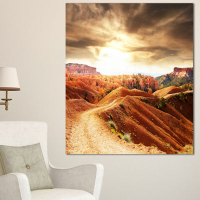 Designart Beautiful View Of Bryce Canyon African Landscape Canvas Art Print