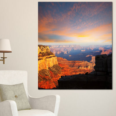 Designart Beautiful View Of Grand Canyon LandscapeWall Art On Canvas - 3 Panels