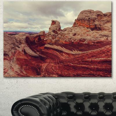 Designart Beautiful View Of Vermillion Cliffs Oversized Landscape Canvas Art - 3 Panels