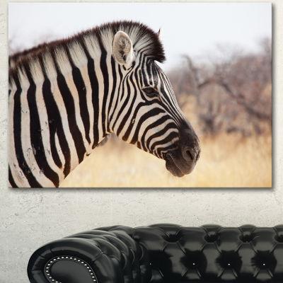 Designart Beautiful Zebra In Forest Abstract Canvas Art Print