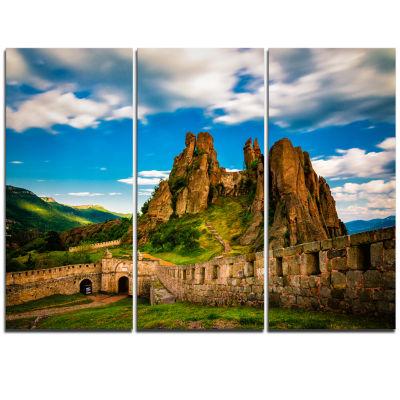 Designart Belogradchik Fortress And Cliffs Bulgaria Landscape Triptych Canvas Art Print