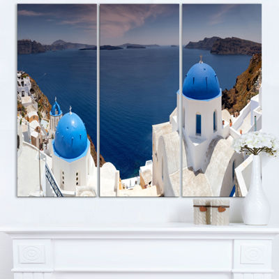 Designart Blue Doomes Churches Panorama LandscapePrint Wall Artwork
