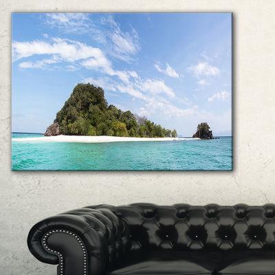 Designart Blue Koh Khai Island Panorama Large Seascape Art Canvas Print