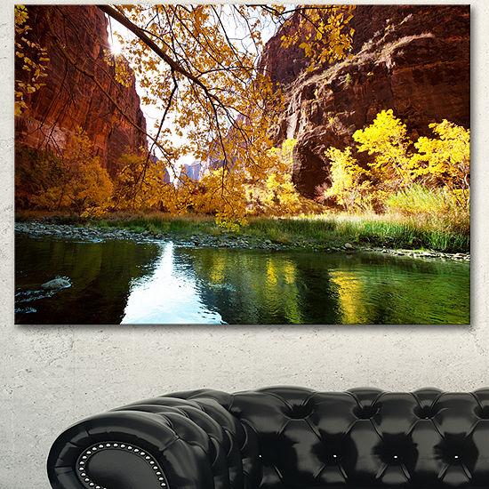 Designart Blue Lake In Yosemite Mountains Landscape Canvas Art Print