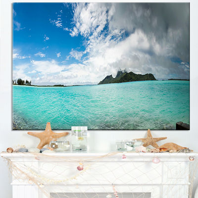 Designart Bora Bora French Polynesia Panorama Large Seascape Art Canvas Print