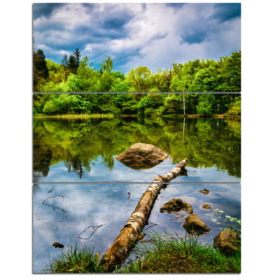 Designart Boyana Lake In Sofia Bulgaria LandscapeTriptych Canvas Art Print